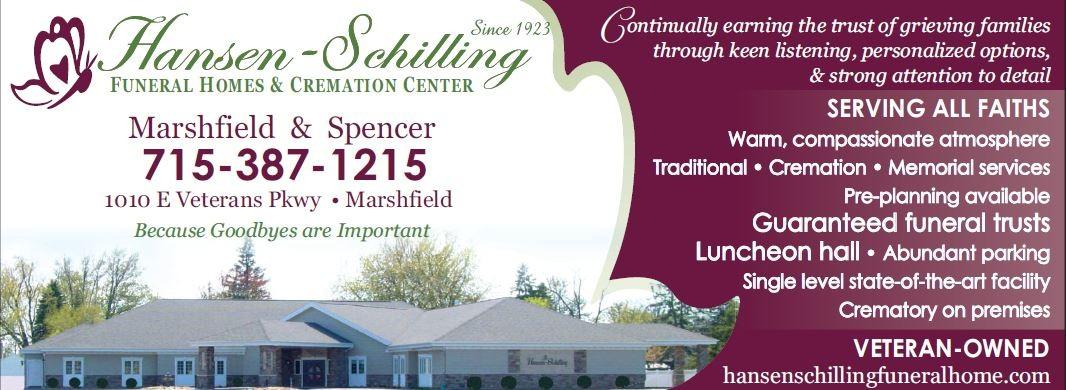 Recent Obituaries Hansen Schilling Funeral Home